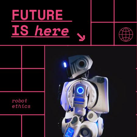 Modern Futuristic Robot Animated Post – шаблон для дизайна