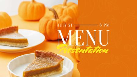 Ontwerpsjabloon van FB event cover van Pumpkin pie offer