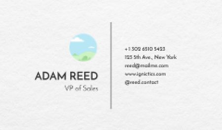 Plantilla de diseño de Vice President of Sales contacts Business card
