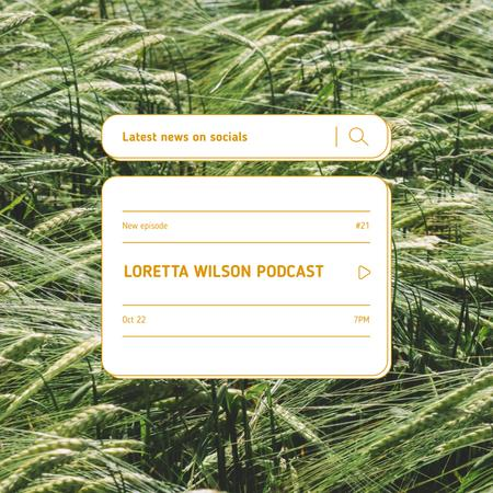 Podcast Topic Announcement with Summer Grass Instagram Design Template