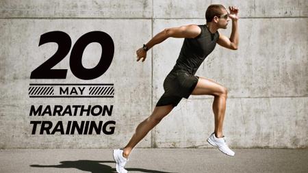 Template di design Marathon Training Announcement with Runner FB event cover