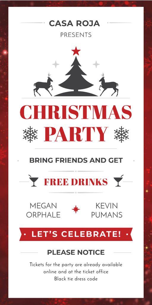 Christmas party card — Modelo de projeto