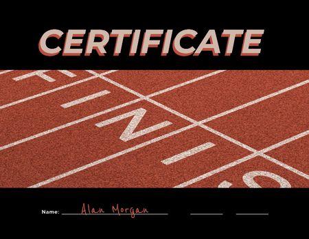 Designvorlage Tennis Achievement Award für Certificate