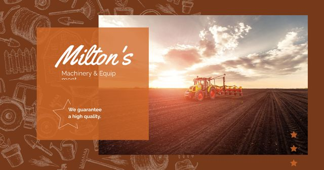 Plantilla de diseño de Tractor working in field Facebook AD