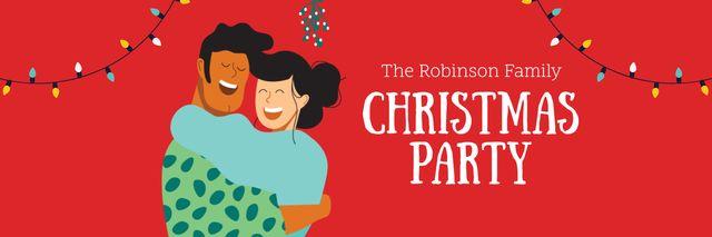 Plantilla de diseño de Couble celebrating Christmas Twitter