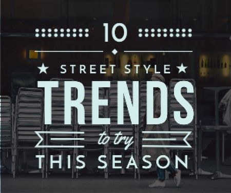 Street style trends poster Medium Rectangle Modelo de Design