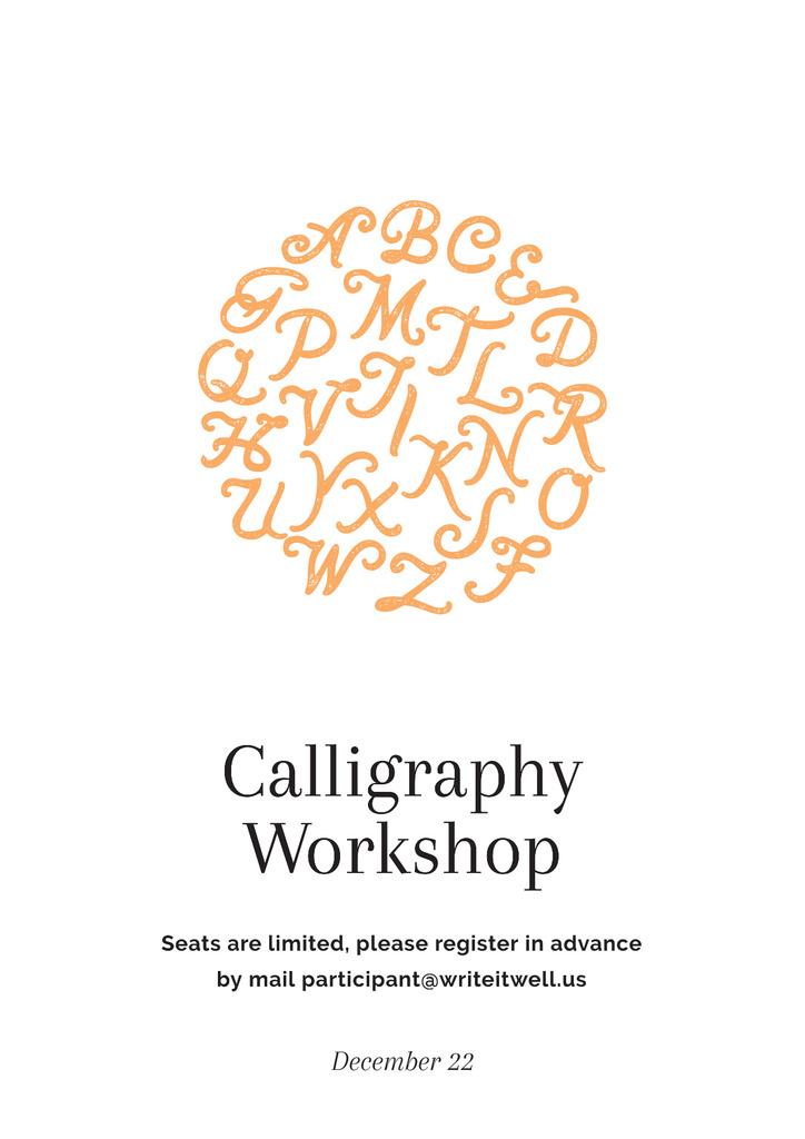 Calligraphy workshop Ad — Modelo de projeto