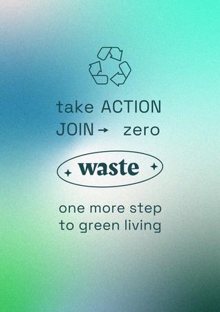 Modèle de visuel Zero Waste concept with Recycling Icon - Poster