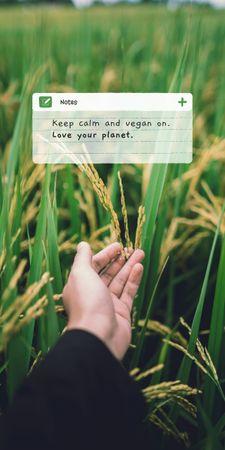 Modèle de visuel Vegan Lifestyle Concept with Green Summer Field - Graphic