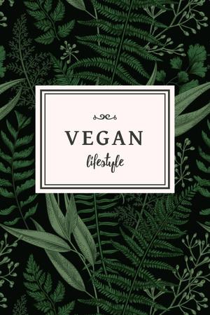 Modèle de visuel Vegan Lifestyle Concept with Green Leaves - Pinterest