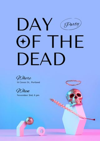 Day of the Dead Holiday Party Announcement Invitation – шаблон для дизайна