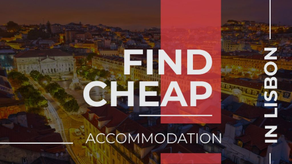 Lisbon night city view — Crear un diseño