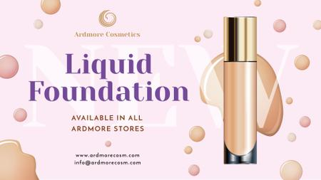 Liquid Foundation Ad with Glass Bottle FB event cover Modelo de Design