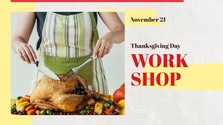 Thanksgiving Day Workshop Announcement FB event cover – шаблон для дизайна
