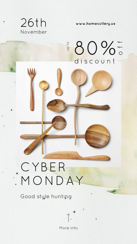 Cyber Monday Sale Wooden spoons set —デザインを作成する