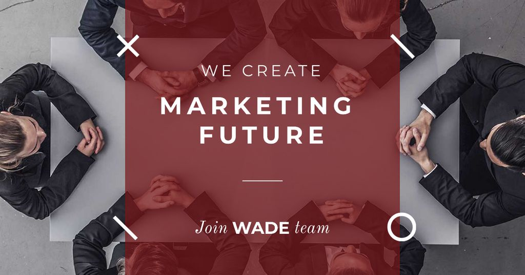 Ontwerpsjabloon van Facebook AD van Inspiration Quote Marketing Team at Meeting