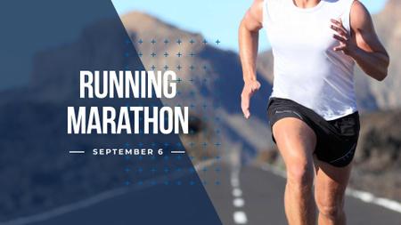 Template di design Running Marathon Announcement with Runner FB event cover