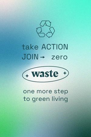 Modèle de visuel Zero Waste concept with Recycling Icon - Pinterest
