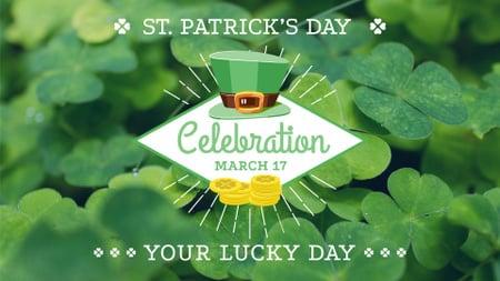 Plantilla de diseño de St.Patrick's Day Holiday Announcement FB event cover