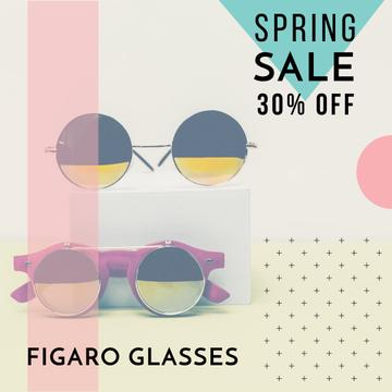 Fashion sale Advertisement with Sunglasses