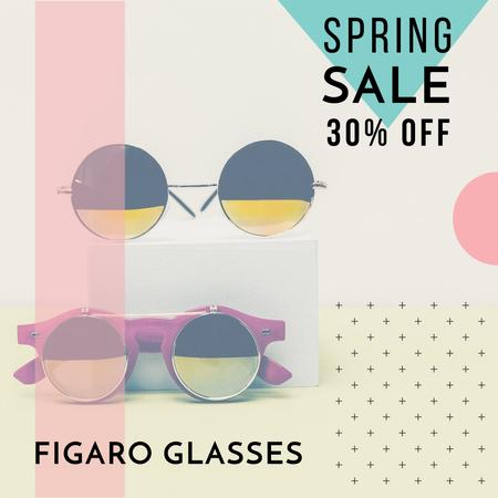 Plantilla de diseño de Fashion sale Advertisement with Sunglasses Instagram
