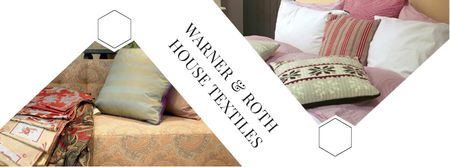 Ontwerpsjabloon van Facebook cover van House Textiles Offer with Pillows