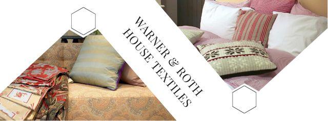 House Textiles Offer with Pillows Facebook cover Modelo de Design