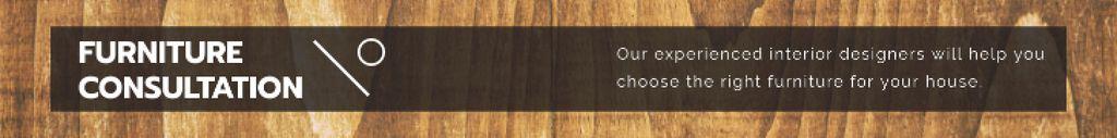 Furniture consultation banner Leaderboard – шаблон для дизайну