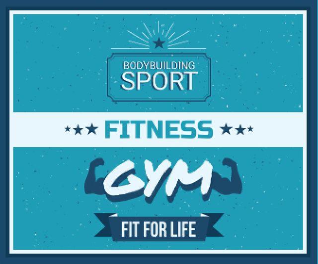 Fitness gym advertisement Large Rectangleデザインテンプレート