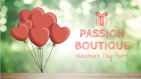 Modèle de visuel Valentine's Day heart-shaped Balloons - Full HD video