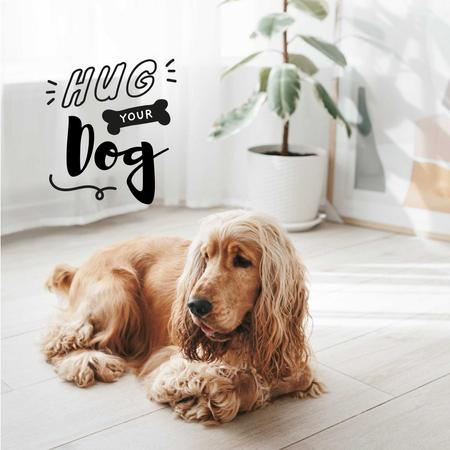 Plantilla de diseño de Cute Dog at Home Instagram