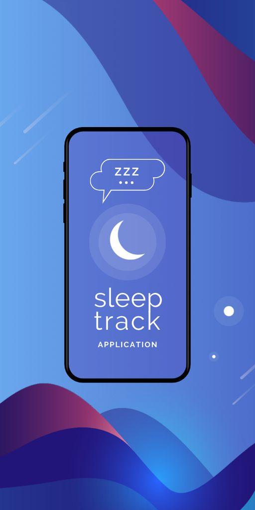 Modèle de visuel Sleep Tracker App on Phone Screen - Graphic
