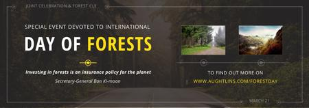 Template di design International Day of Forests Event Forest Road View Tumblr