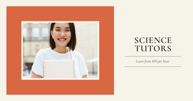 Science Tutors services Facebook ADデザインテンプレート