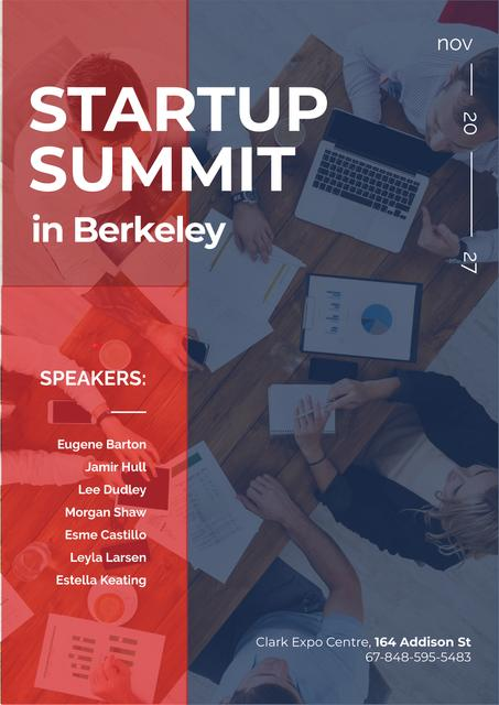 Plantilla de diseño de Startup Summit Announcement Business Team at the Meeting Poster
