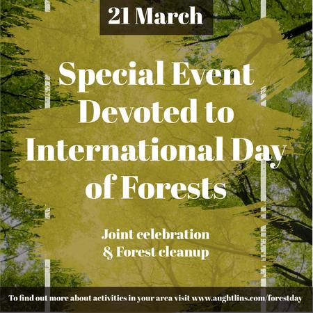Ontwerpsjabloon van Instagram van Special Event devoted to International Day of Forests