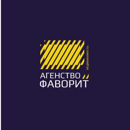 Construction Company Ad with Yellow Lines Texture Logo – шаблон для дизайна