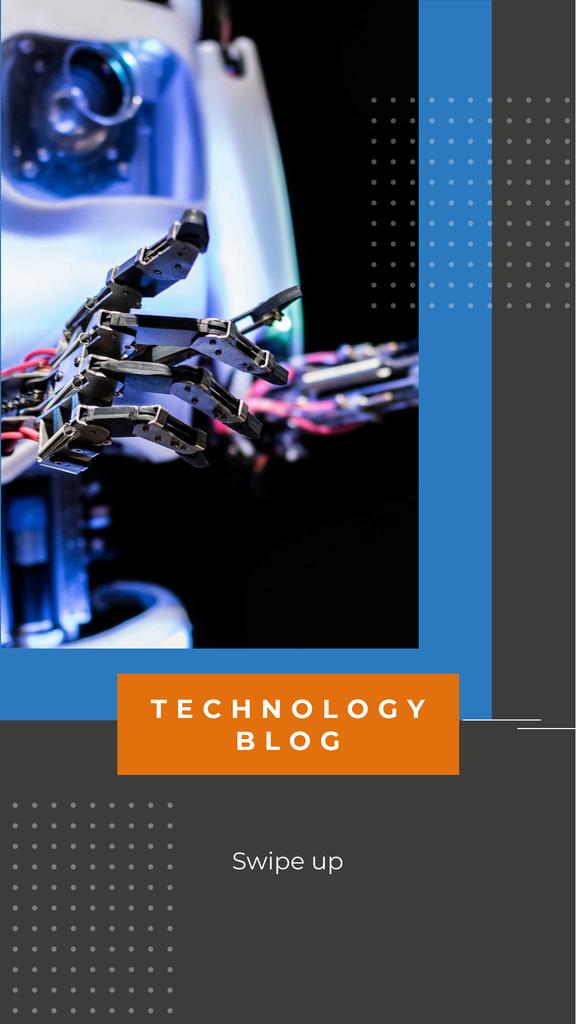 Modèle de visuel Technology Blog Ad with Modern Robot - Instagram Story