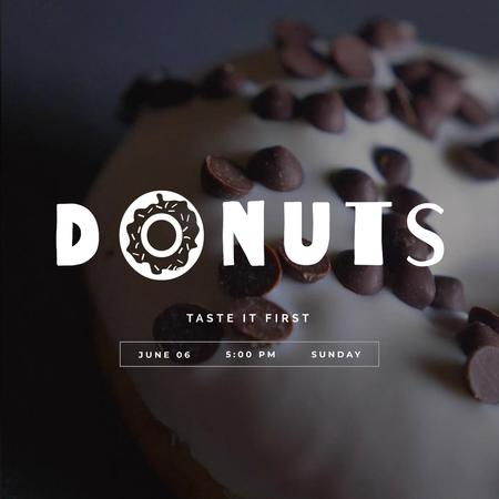 Ontwerpsjabloon van Animated Post van Sweet glazed doughnut