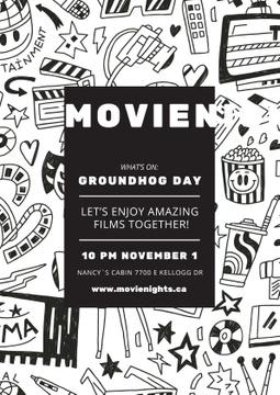 Movie night event on Groundhog Day