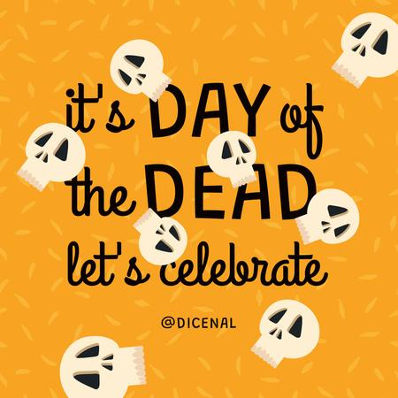 Day of the Dead Celebration with Funny Skulls Animated Post – шаблон для дизайна