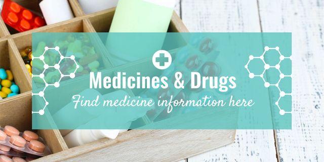 Medicine information banner Image Design Template