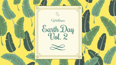 Modèle de visuel Earth Day Announcement with Feathers Pattern - FB event cover