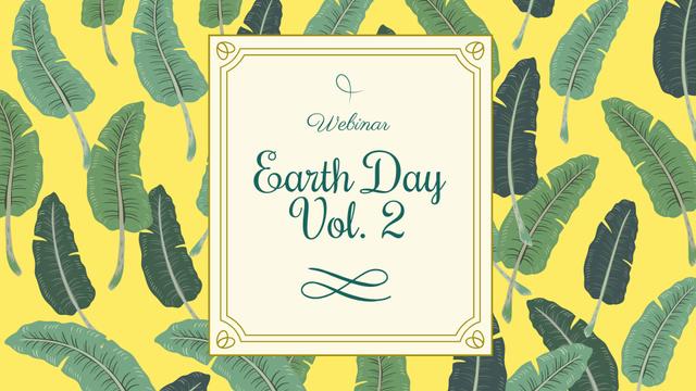 Plantilla de diseño de Earth Day Announcement with Feathers Pattern FB event cover