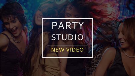 Ontwerpsjabloon van Youtube van People dancing in Nightclub