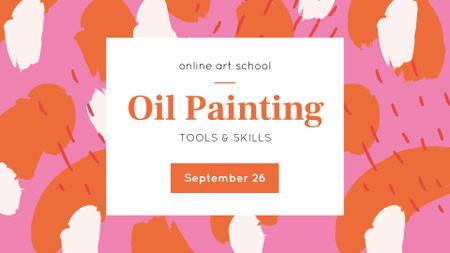 Art School Online Lessons Announcement FB event cover – шаблон для дизайну