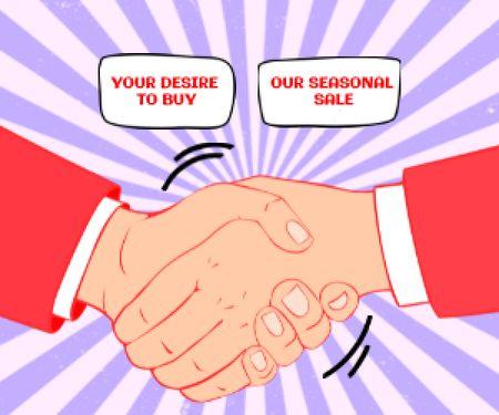 Szablon projektu Illustration of Business Handshake Medium Rectangle