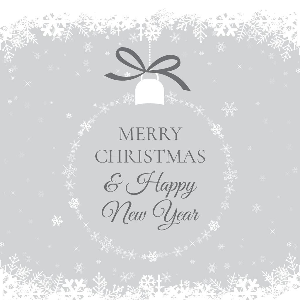 Merry Christmas Greeting on Christmas tree ball — Crear un diseño