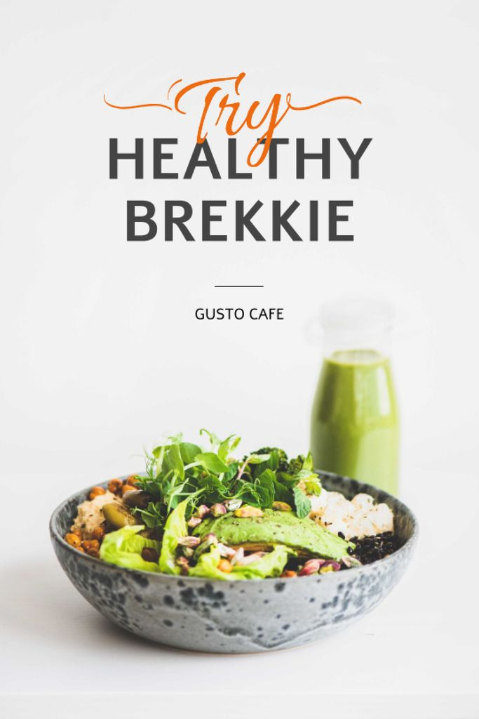 Healthy Breakfast with Smoothie Tumblr Design Template