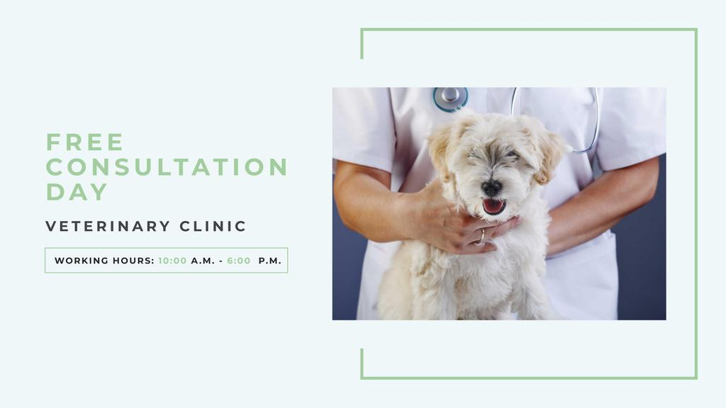 Pet veterinary clinic Ad with Cute Dog — Crear un diseño